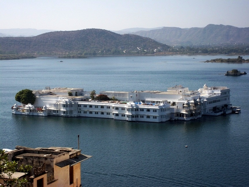 Lake Palace visible from City Palace Udaipur