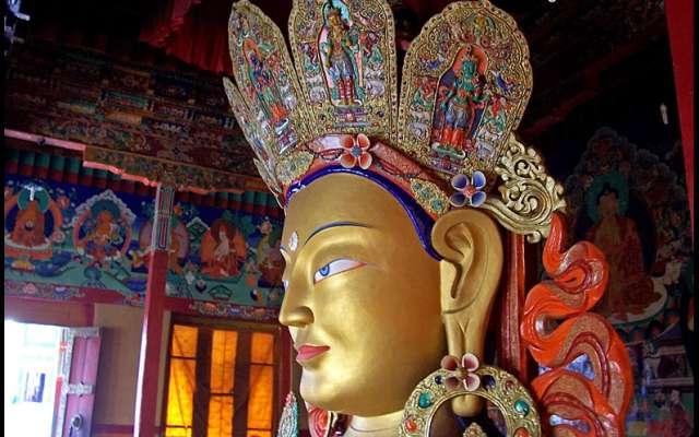 Thiksey Monastery Buddha Statue